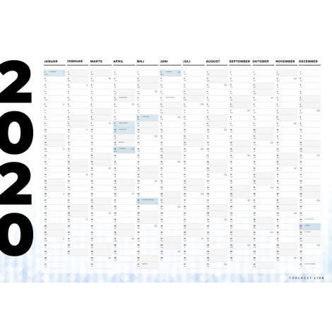 Vægkalender 2020
