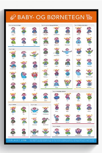Plakat: Baby- og Børnetegn 2015