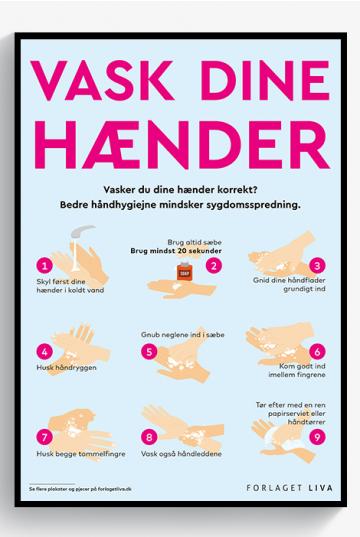 PLAKAT - Vask dine hænder