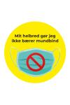 Kan ikke bære mundbind - Badge
