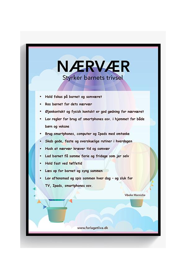 Nærvær - styrker barnets trivsel (plakat)